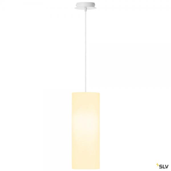 SLV 155561 + 156141 Fenda, Pendelleuchte, weiß, Ø15cm, E27, max.60W