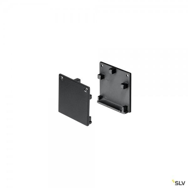 SLV 213650 Glenos 3030, Endkappen, schwarz matt, 2 Stück
