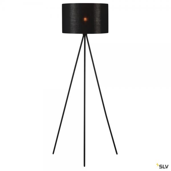 SLV 155490 + 156122 Fenda, Stehleuchte, schwarz/kupfer, Ø45,5cm, E27, max.40W