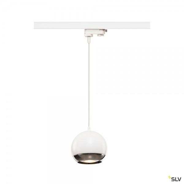 SLV 1000710 Light Eye, 3Phasen, Pendelleuchte, weiß/chrom, QPAR111, GU10, max.75W
