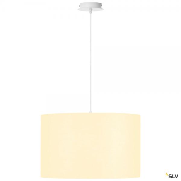 SLV 155561 + 156111 Fenda, Pendelleuchte, weiß, Ø45,5cm, E27, max.60W