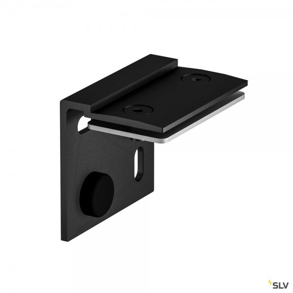 SLV 1001802 H-Profil, Wandhalterung, schwarz, 2 Stück