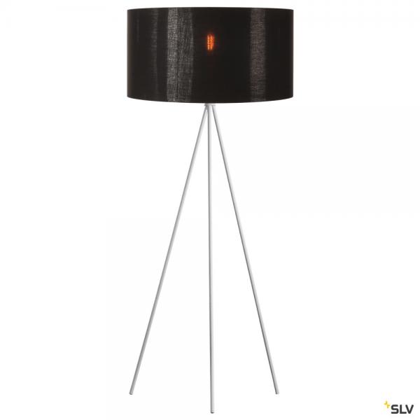 SLV 1003033 + 1000580 Fenda, Stehleuchte, weiß/schwarz/kupfer, Ø70cm, E27, max.40W