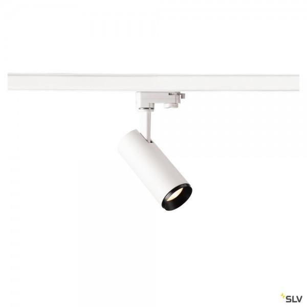 SLV 1004088 Numinos S, 3Phasen, Strahler, weiß/schwarz, dimmbar C, LED, 10,42W, 3000K, 1020lm, 60°