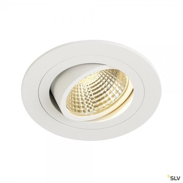 SLV 113901 New Tria 1 Set, Deckeneinbauleuchte, weiß, LED, 8W, 3000K, 700lm
