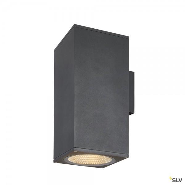 SLV 1003438 Enola Square L, Wandleuchte, anthrazit, up&down, IP65, LED, 53W, 3000K/4000K, 9000lm