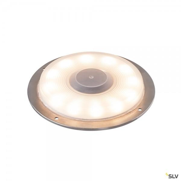 SLV 1001359 Big Plot, Basis, Bodenaufbauleuchte, Edelstahl, IP67, LED, 5,5W, 3000K, 460lm