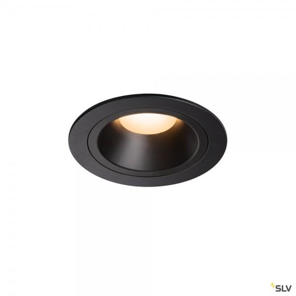 SLV 1003847 Numinos M, Deckeneinbauleuchte, schwarz, LED, 17,55W, 2700K, 1460lm, 55°