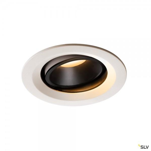 SLV 1003568 Numinos Move M, Deckeneinbauleuchte, weiß/schwarz, LED, 17,55W, 2700K, 1460lm, 40°