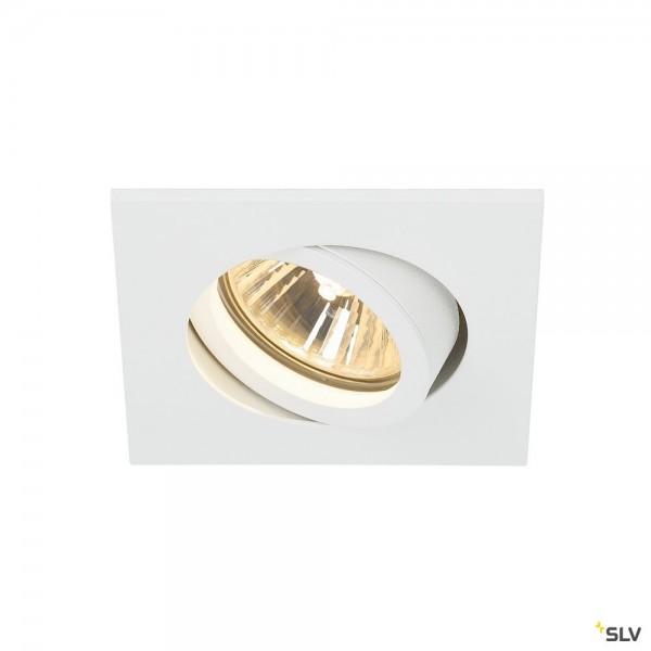 SLV 1001995 New Tria 68, Deckeneinbauleuchte, weiß, QPAR51, GU10, max.50W