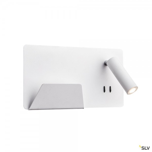 SLV 1003457 Somnila Spot, Wandleuchte, weiß, Schalter, links, LED, 13W, 3000K, 711lm