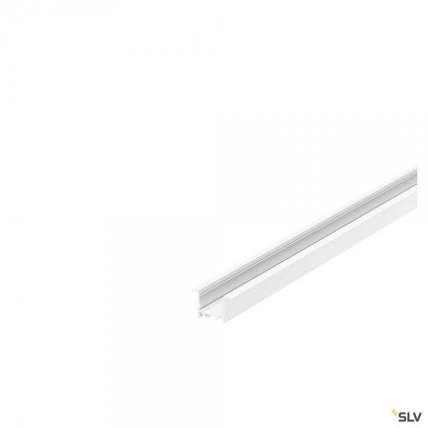 SLV 1000494 Grazia 5232, Einbauprofil, weiß, B/H/L 5,2x3,2x200cm, LED Strip max.B.2cm