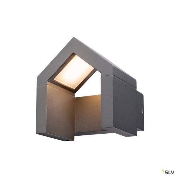 SLV 1000797 Rascali, Wandleuchte, anthrazit, IP54, LED, 8W, 3000K, 330lm