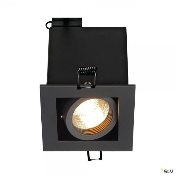 SLV 115510 Kadux 1, Deckeneinbauleuchte, schwarz matt, QPAR51, GU10, max.50W