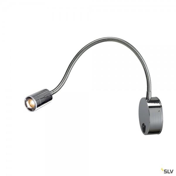 SLV 1002116 Dio Flex Plate, Displayleuchte, chrom, mit Schalter, LED, 1,9W, 2700K, 82lm