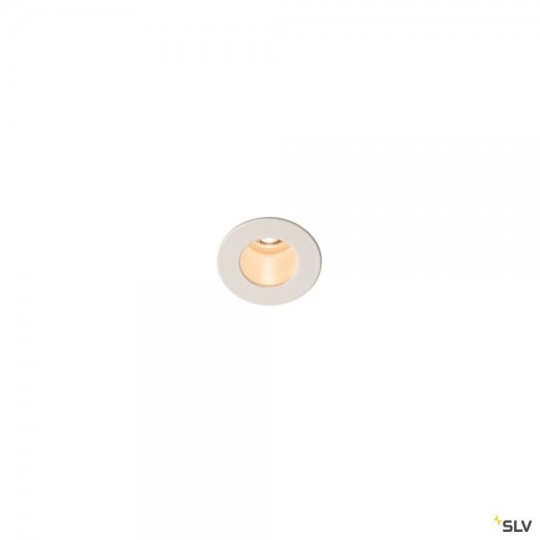 SLV 1000914 Horn Mini, Wand- und Deckeneinbauleuchte, weiß, LED, 1,2W, 3000K, 70lm
