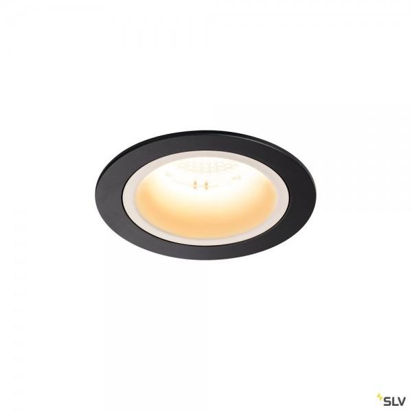 SLV 1003872 Numinos M, Deckeneinbauleuchte, schwarz/weiß, LED, 17,55W, 3000K, 1600lm, 55°