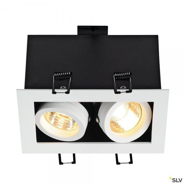 SLV 115521 Kadux 2, Deckeneinbauleuchte, weiß matt, QPAR51, GU10, max.2x50W