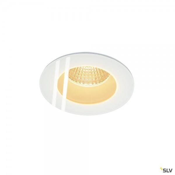 SLV 114441 Patta-F, Deckeneinbauleuchte, weiß, IP65, dimmbar Triac C+L, LED, 12W, 3000K, 860lm