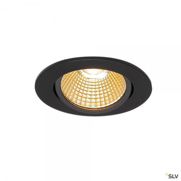 SLV 1003065 New Tria 68, Deckeneinbauleuchte, schwarz, dimmbar Triac C+L, LED, 11W, 2700K, 800lm