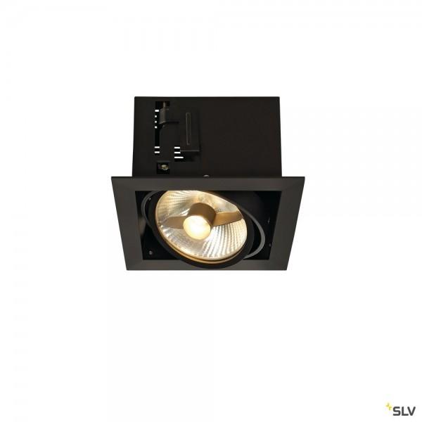 SLV 115540 Kadux 1, Deckeneinbauleuchte, schwarz matt, QPAR111, GU10, max.75W