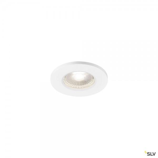 SLV 1001018 Kamuela, Deckeneinbauleuchte, weiß, IP65, dimmbar L, LED, 6,5W, 4000K, 400lm