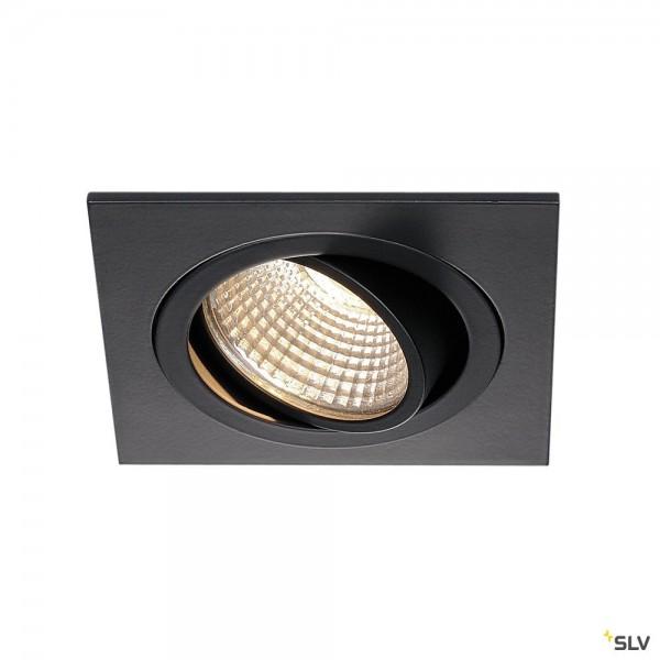 SLV 113910 New Tria 1 Set, Deckeneinbauleuchte, schwarz matt, LED, 8W, 3000K, 700lm