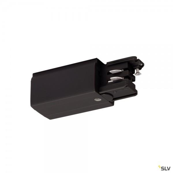 SLV 175050 Endeinspeiser Erde links, schwarz, 3Phasen, S-Track, Aufbauschiene