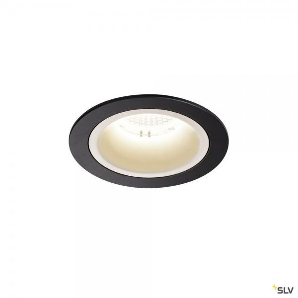SLV 1003893 Numinos M, Deckeneinbauleuchte, schwarz/weiß, LED, 17,55W, 4000K, 1750lm, 40°