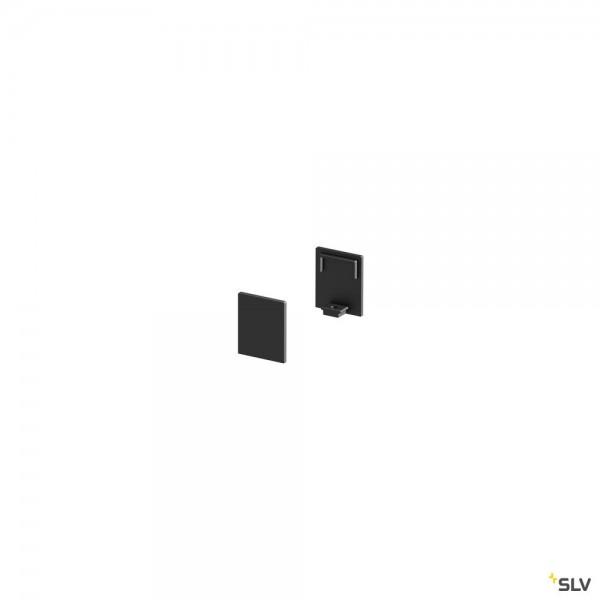 SLV 1000483 Endkappen 2 Stück, schwarz, hoch, Grazia 10