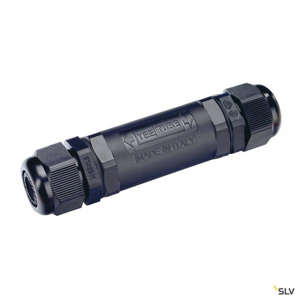 SLV 228730 Verbindungsbox, 2er, schwarz, IP68, 6-12mm