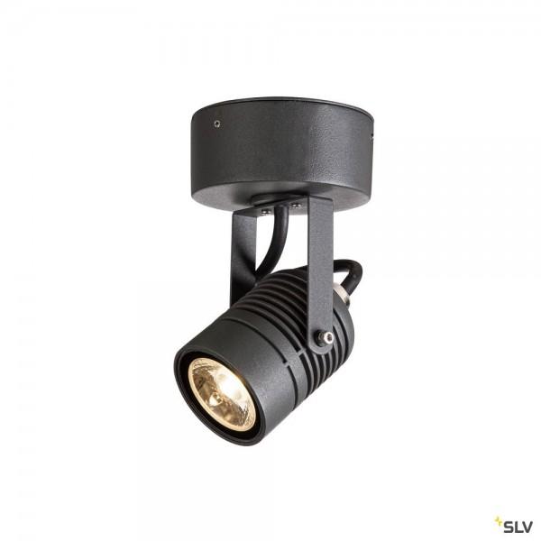 SLV 1004649 LED Spot, Strahler, anthrazit, IP55, LED, 6W, 3000K, 400lm