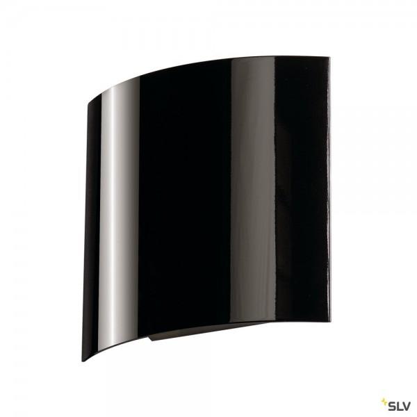 SLV 151600 LED Sail 1, Wandleuchte, schwarz glänzend, LED, 3,5W, 3000K, 110lm