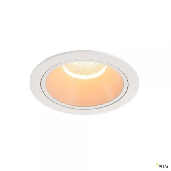 SLV 1004001 Numinos XL, Deckeneinbauleuchte, weiß, LED, 37,4W, 2700K, 3500lm, 40°