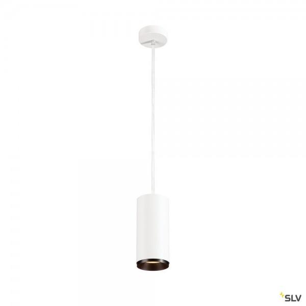SLV 1004640 Numinos L, Pendelleuchte, weiß/schwarz, dimmbar Dali, LED, 28W, 3000K, 2400lm, 60°