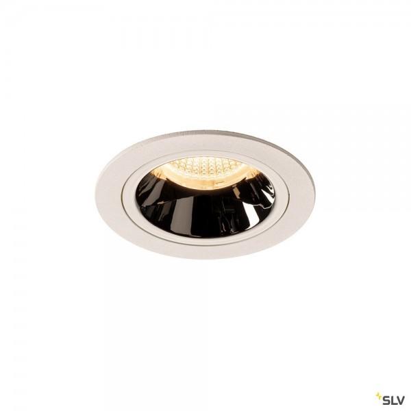 SLV 1003879 Numinos M, Deckeneinbauleuchte, weiß/chrom, LED, 17,55W, 3000K, 1550lm, 20°