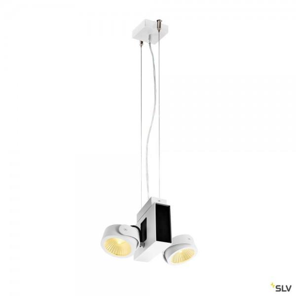 SLV 1001436 + 1001432 Tec Kalu, weiß, dimmbar C, LED, 31W, 3000K, 1900lm, 24°