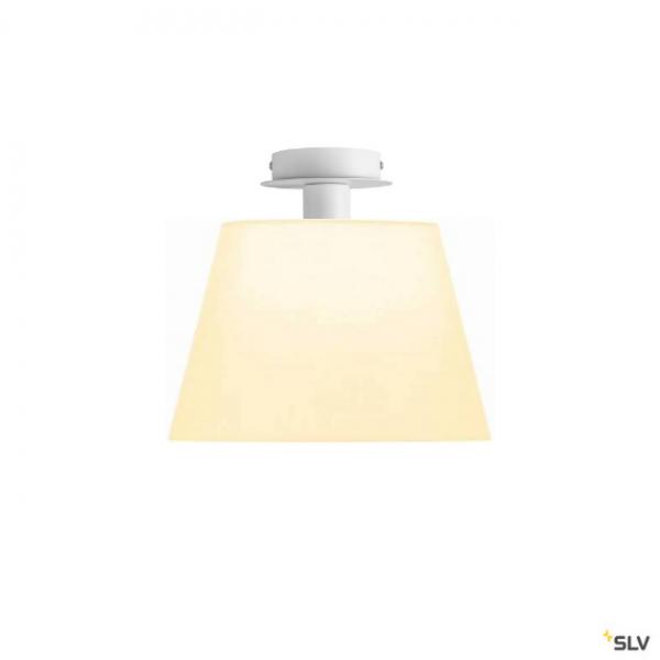 SLV 155551 + 156161 Fenda, Deckenleuchte, weiß, Ø30cm, E27, max.60W