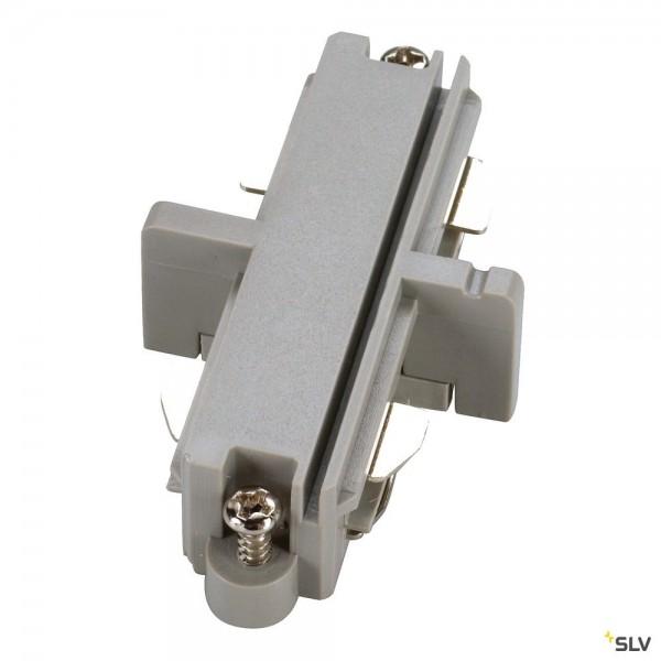 SLV 143092 1 Phasen, Aufbauschiene, Längsverbinder, silbergrau