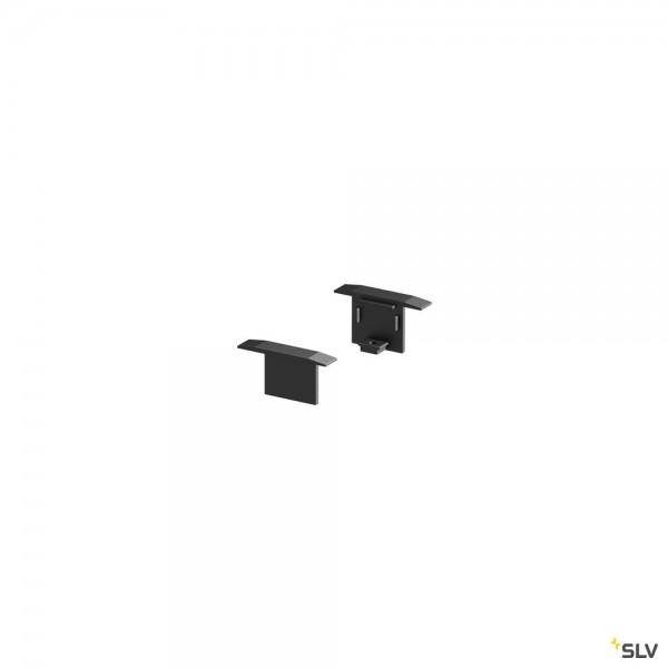 SLV 1000474 Grazia 10, Endkappen, schwarz, 2 Stück