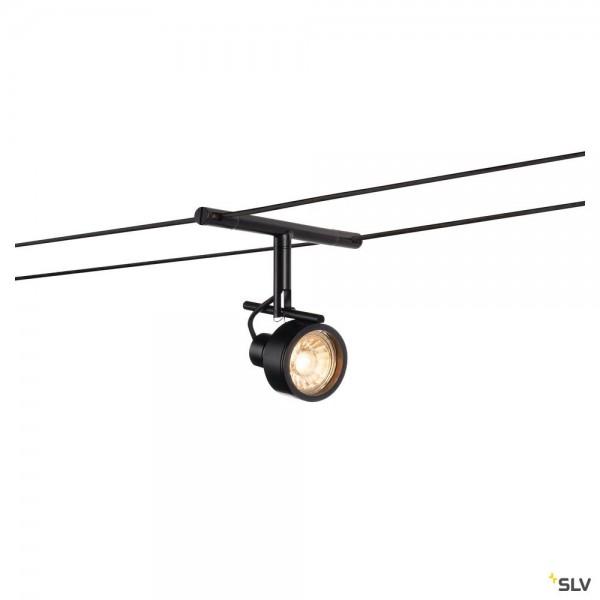 SLV 139130 Saluna, Seilsystem, Strahler, schwarz, GX5.3, max.35W