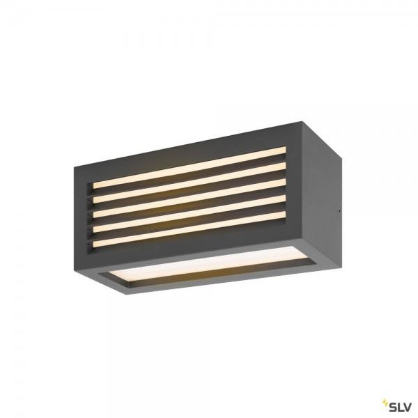 SLV 1002035 Box-L, Wandleuchte, anthrazit, up&down, IP44, LED, 19W, 3000K, 480lm