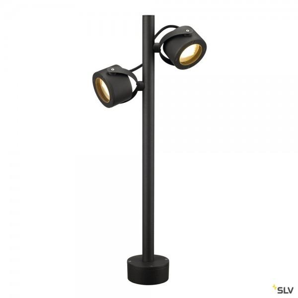 SLV 231505 Sitra SL 360, Standleuchte, anthrazit, IP44, GX53, max.2x9W