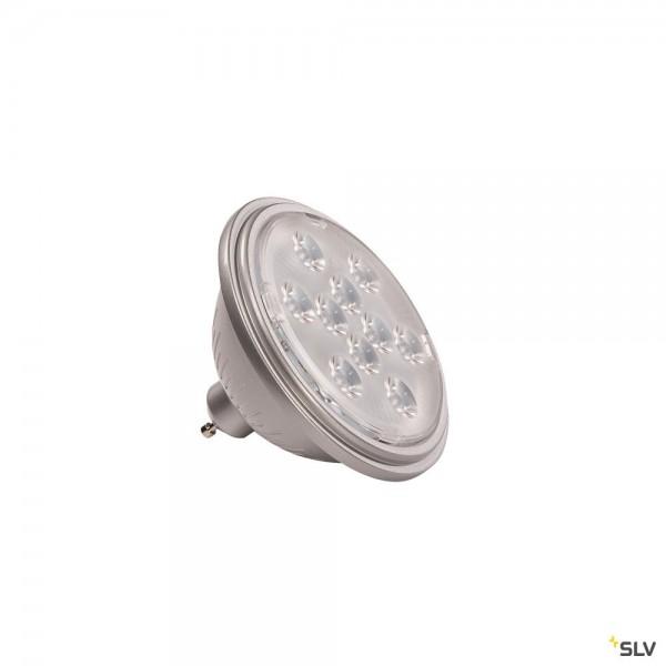 SLV 1000939 Leuchtmittel, silbergrau, QPAR111, GU10, LED, 7,3W, 2700K, 730lm, 13°
