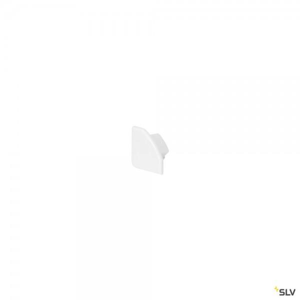 SLV 213931 Endkappen 2 Stück, weiß matt, Glenos 2720