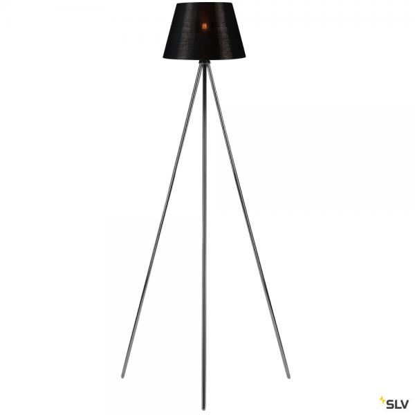 SLV 155492 + 156172 Fenda, Stehleuchte, chrom/schwarz/kupfer, Ø30cm, E27, max.40W