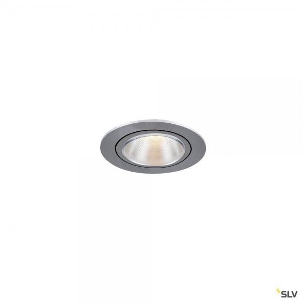 SLV 1000908 Kaholo, Deckeneinbauleuchte, alu gebürstet, E27, max.50W