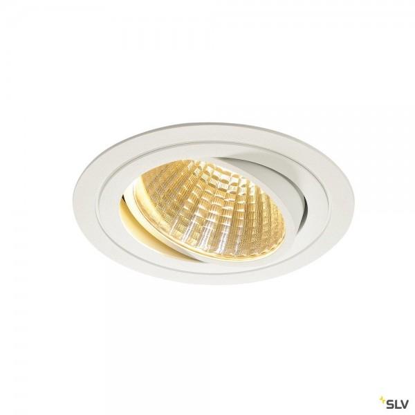 SLV 114261 New Tria 1 Set, Deckeneinbauleuchte, dimmbar 1-10V, LED, 29W, 2700K, 2275lm