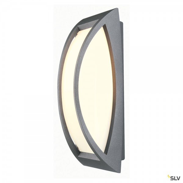 SLV 230445 Meridian 2, Wand- und Deckenleuchte, anthrazit, IP54, E27, max.25W
