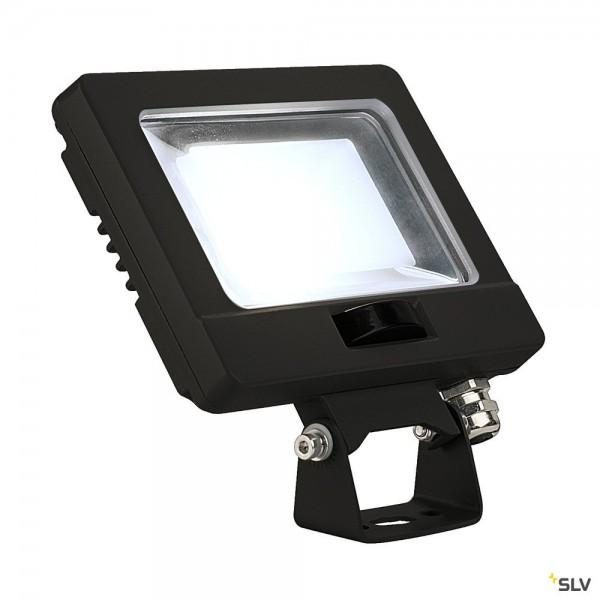 SLV 232870 Spoodi Sensor, Strahler, schwarz, mit Netzstecker, IP65, LED, 11W, 4000K, 870lm